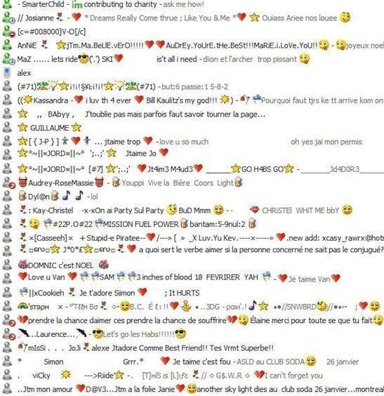 Msn en iedereen had van die rare namen en als je dan aandacht wilde ging je 10x online/offline haha!