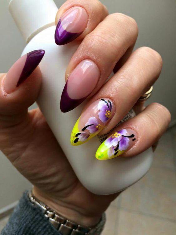 french viola french giallo fluo fiori
