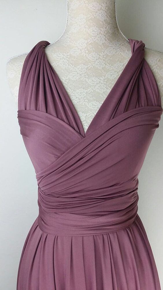 Bridesmaid Dress Infinity Dress Plum Straight by LoveVanillaDew