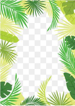 Nature Forest Frame Clip Art Borders Jungle Border Borders And Frames