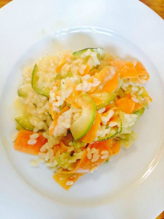 Risotto courgettes-carottes