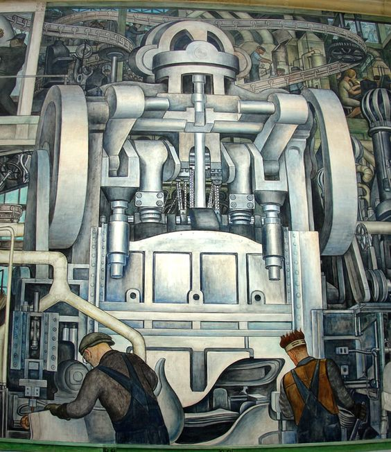 Diego rivera detroit and murals on pinterest for Detroit rivera mural