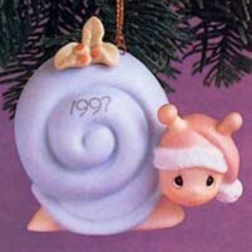 Slow Down For The Holidays Dated 1997 Precious Moments Ornament #272760