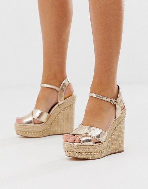 Peep toe espadrilles, Wedge sandals