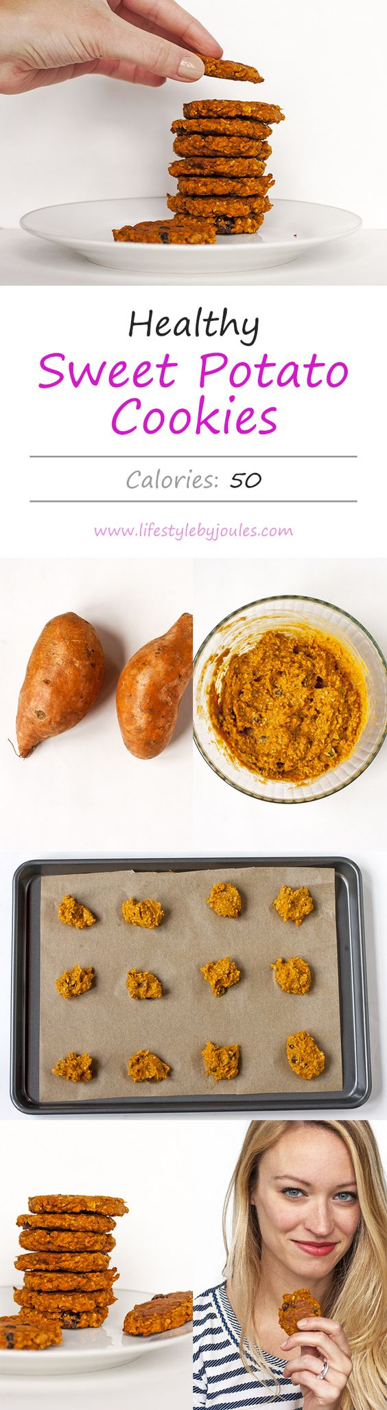 Sweet Potato Cookie Recipe - These super simple cookies are sweet, tasty, and full of fibre and healthy vitamins. I've been eating them for breakfast!