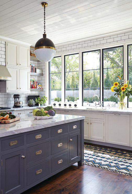Luxury White Cabinets with Black Hardware