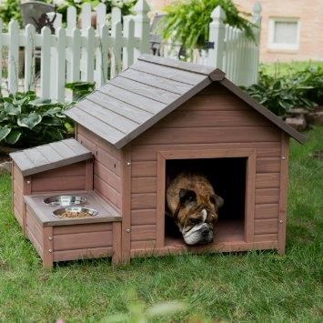 Wooden Dog House with Food Bowl Tray and Storage      Buy it now >>>>>  http://amzn.to/1TSfAwf