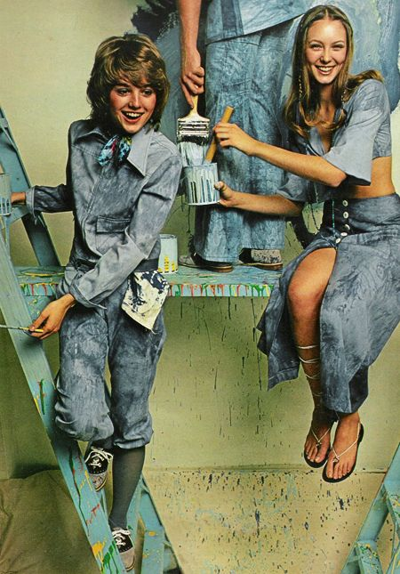 Denim is the fashion in Seventeen magazine, March 1971.
