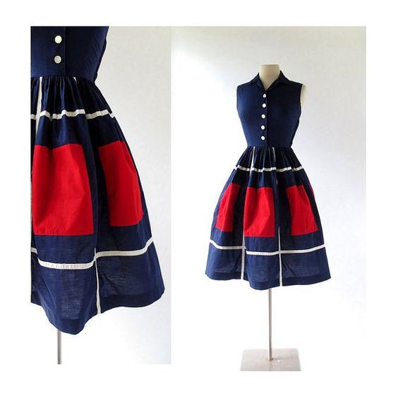 1950s De Stijl dress by Bobbie Brooks