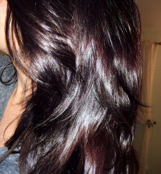 Violet brown hair