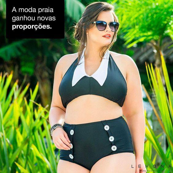 Não é novidade que a moda para nós mulheres plus size, ganhou novas proporções.  Criamos para vocês o melhor da moda praia.  Compre agora => http://www.lehona.com.br/produtos/calcinhas-de-biquini/calcinha-vintage-preta%7C399  #ameseucorpo #amesuascurvas #plus #plussize #lehona #modapraiaplussize #modaplussize #tamanhosgrandes #moda #modafeminina #modagg #praia #sol #love #mulher #biquíni #outlet #promoção #brinde #plussizemodel #tankini #calcinhapreta