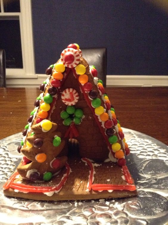 I just made this awesome gingerbread house! Super fun and easy!