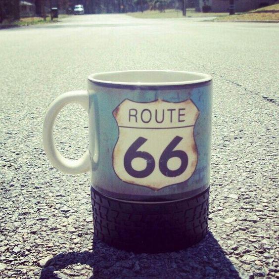 Route 66 coffee mug.