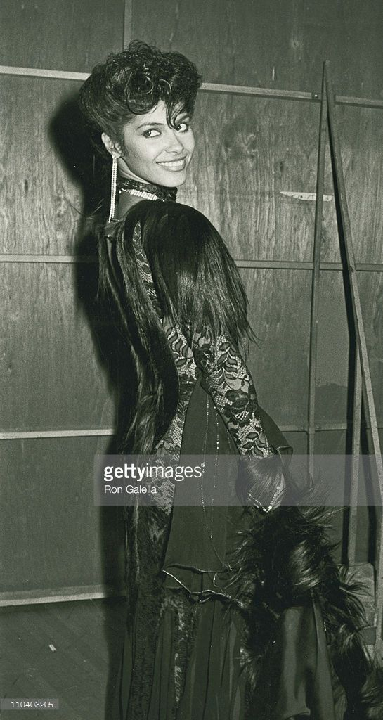 Singer Vanity attend 12th Annual American Music Awards on January 28, 1985 at the Shrine Auditorium in Los Angeles, California.: