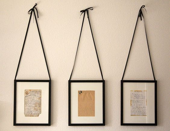 handwritten recipes framed - love this idea to decorate in the kitchen!