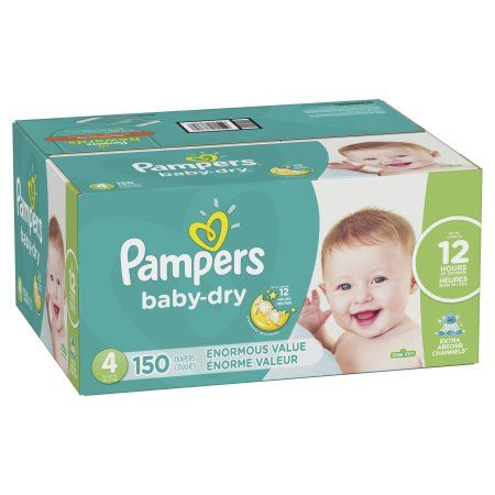 Packaging May Vary Pampers Diapers Size 4 Cruisers Disposable Baby Diapers Super Economy Pack 128 Count