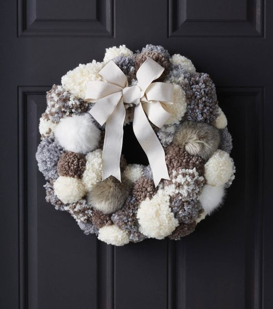 DIY Pom Pom Wreath Tutorial from Joann's:
