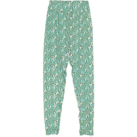 Tucker Floral-print silk-georgette pants ($299) ❤ liked on Polyvore