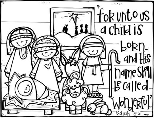 Christmas Coloring Pages For Kids Jesus Is The Reason For The