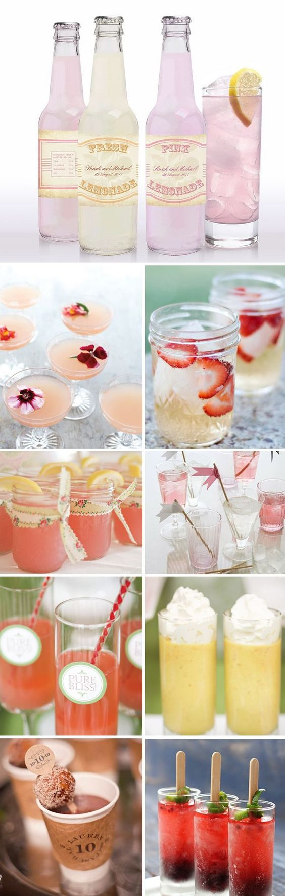 Drinks reception food and wedding reception food on pinterest for Diy wedding ideas for summer