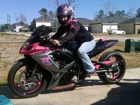 Popular Custom Painted Street Bikes   Pink & Black Custom2006 gsxr600   Sport Bikes For Sale   Panorama ...