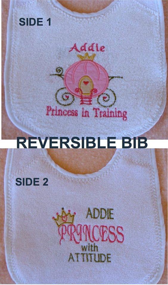 Embroidered REVERSIBLE BIB