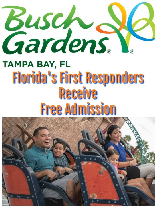 Busch Gardens Free Admission For First Responders