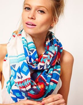 Scarf: Aztec Snood, Asos Aztec, Aztec Scarf, Infinity Scarfs, Dream Closet, Colorful Scarves, Aztec Prints
