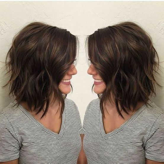 Layered Bob For Thick Hair Hair Styles Thick Hair Styles Short Hair Styles