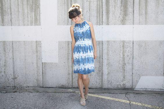 sewing saturday - shibori halter dress by laurenwinterdotco, via Flickr