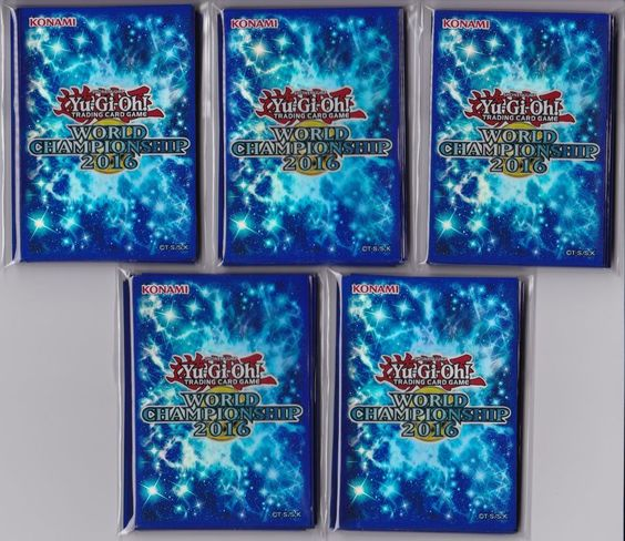 Yu-gi-oh World Championship WCS 2016 Sleeves Blue Brand New  pack of 100 sleeve  #Konami