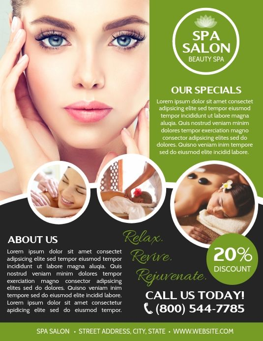 Spa Flyer Templates Beauty Spa Flyers Spa Advertisement