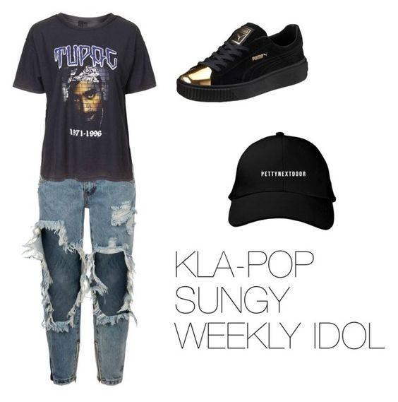 """""""KLA-POP"""" by sun-style ❤ liked on Polyvore featuring Puma, OneTeaspoon and Topshop"""