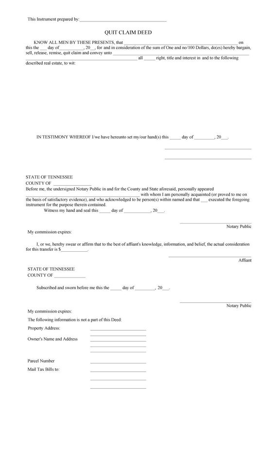 Free Quit Claim Deed Forms Amp Templates Template Lab Letter Filed