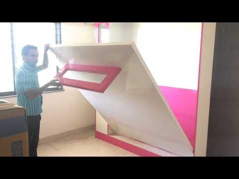 Hydraulic Bed Wall Mounted Bed By Parthcreationhup Pune Youtube Bed Wall Wall Wardrobe Design Bed Furniture Design