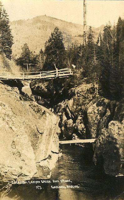 Cascadia Canyon Creek footbridge c1915
