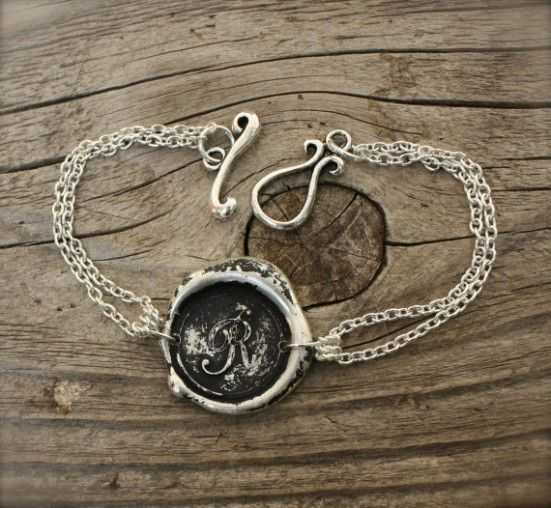 perfect wax seal inspired bracelet