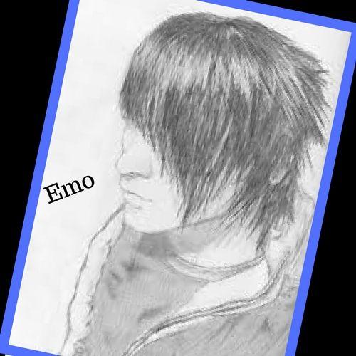Imagenes De Emos Para Dibujar A Lapiz Faciles Male Sketch Male Art
