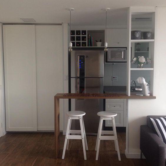 Balcão vazado, colocar armário com rodízio em baixo  Cozinha  Pinterest   # Bancada Cozinha Rodizio