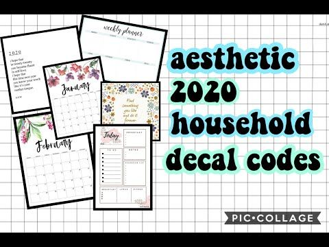 Roblox Bloxburg Codes For A Cafe Aesthetic 2020 Household Picture Decals Planners Calenders Quotes Etc Youtube In 2020 Calendar Decal Custom Decals Roblox Pictures