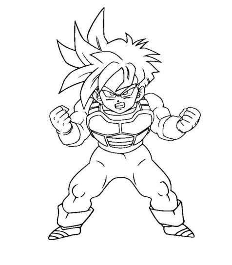 Goku En Acción Para Colorear Dibujos Dibujos De Dragón Y