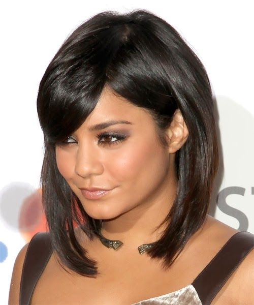 Modela tu cabello cortes de pelo mediano para mujeres oto o invierno 2014 maquillaje pinterest - Carre plongeant long avec frange ...