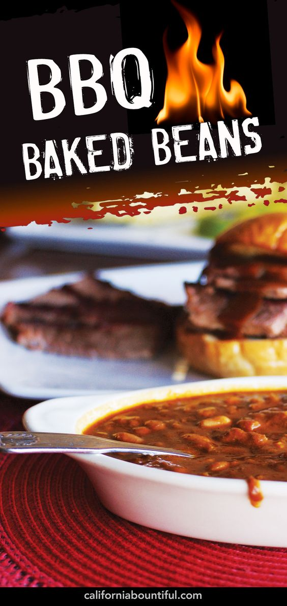Barbecue baked beans #Recipe #CaliforniaBountiful #Calivore #bbq