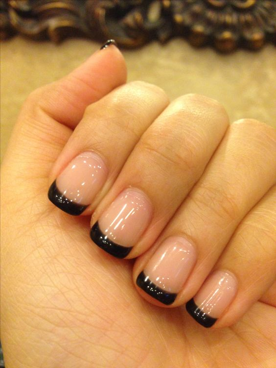 70 Ideas Of French Manicure Black Nail Polish Nails And