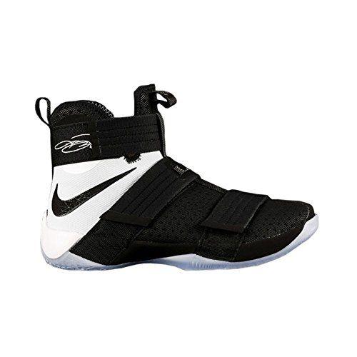 Nike Lebron Soldier 10 Sfg Mens Hi Top Basketball Trainers 844378 Sneakers Shoes Uk 9 Us 10 Eu 44 Black White 001 Nike Lebron Sneakers Shoes Sneakers