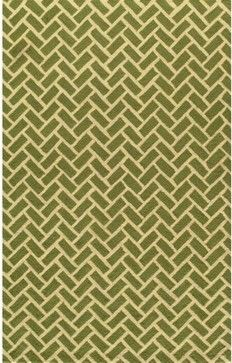 Herringbone Area Rug, Green contemporary rugs