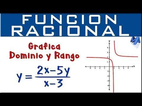 147 Función Racional Gráfico Dominio Y Rango Youtube Función Racional Matematicas Graficos