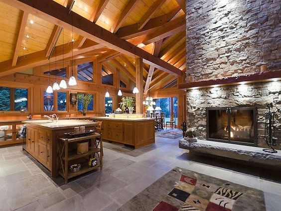 Cocinas de cabañas de madera, cocinas de cabaña and cabañas de ...