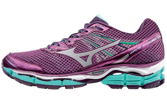 WAVE ENIGMA 5: SOFTEN THE ROAD AHEAD  Max cushioning. That's what you'll get with this neutral women's running shoe from Mizuno.