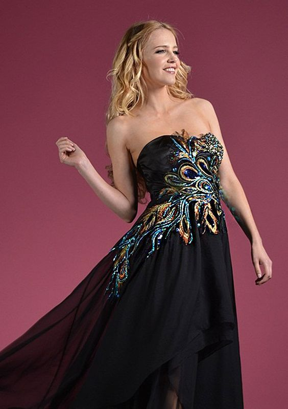 Dresse Peacock Prom Dress - ... / Black Dresses / Cinderella ...